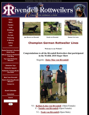 Rivendell Rottweilers - Champion German Rottweilers